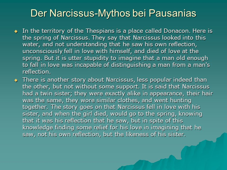 Der Narcissus-Mythos bei Pausanias