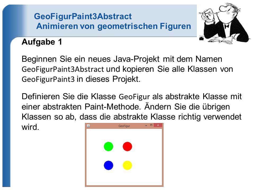 GeoFigurPaint3Abstract Animieren von geometrischen Figuren