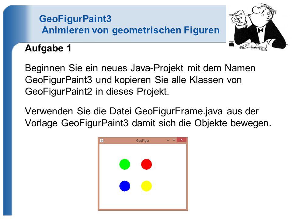 GeoFigurPaint3 Animieren von geometrischen Figuren