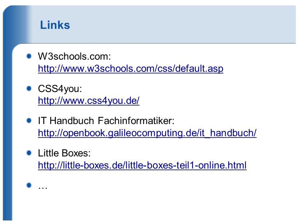 Links W3schools.com: http://www.w3schools.com/css/default.asp
