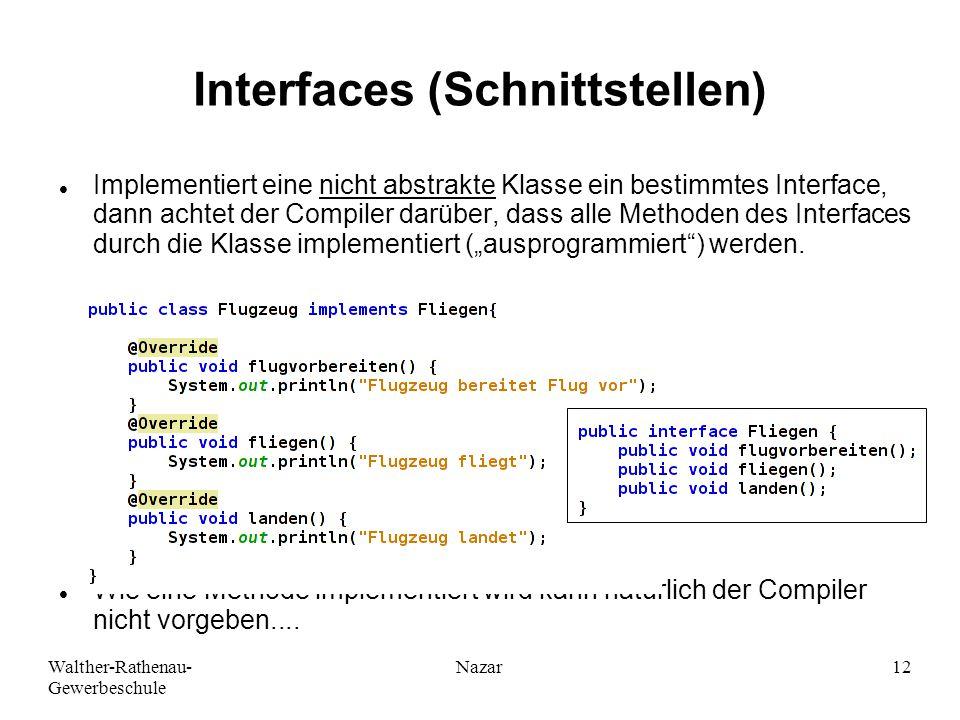 Interfaces (Schnittstellen)