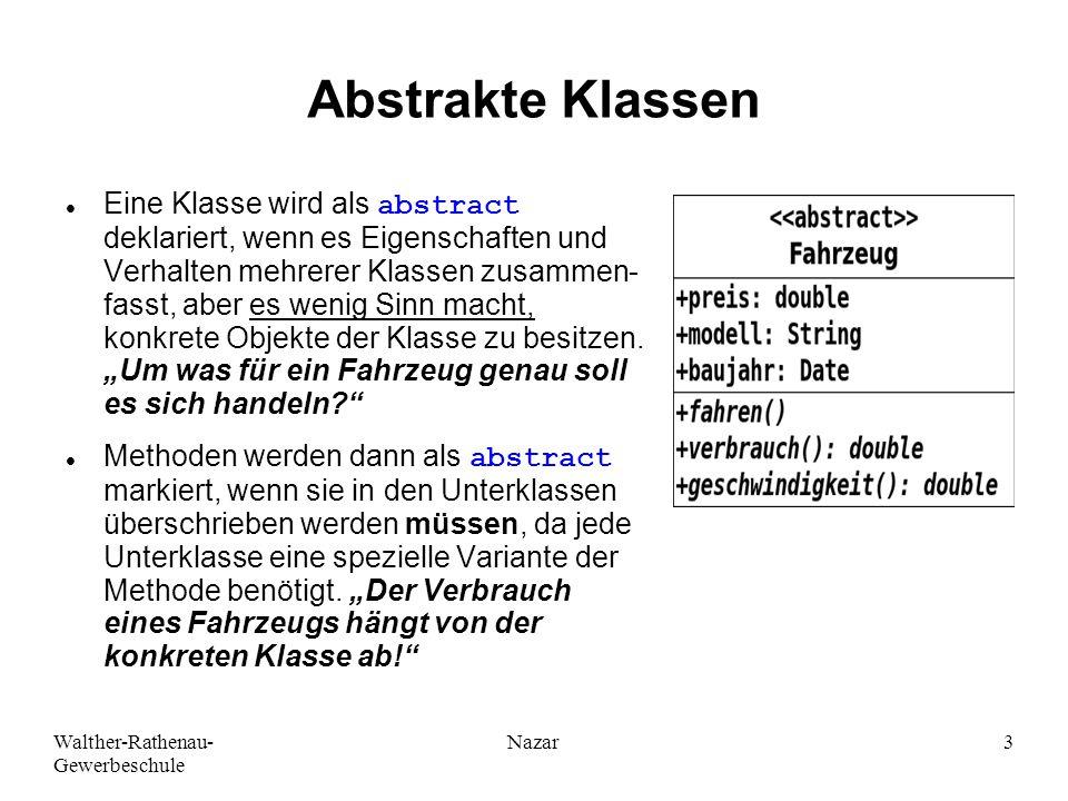 Ahmad-Nessar Nazar Abstrakte Klassen.
