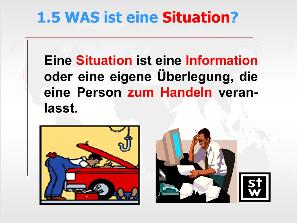 1.5 WAS ist eine Situation.