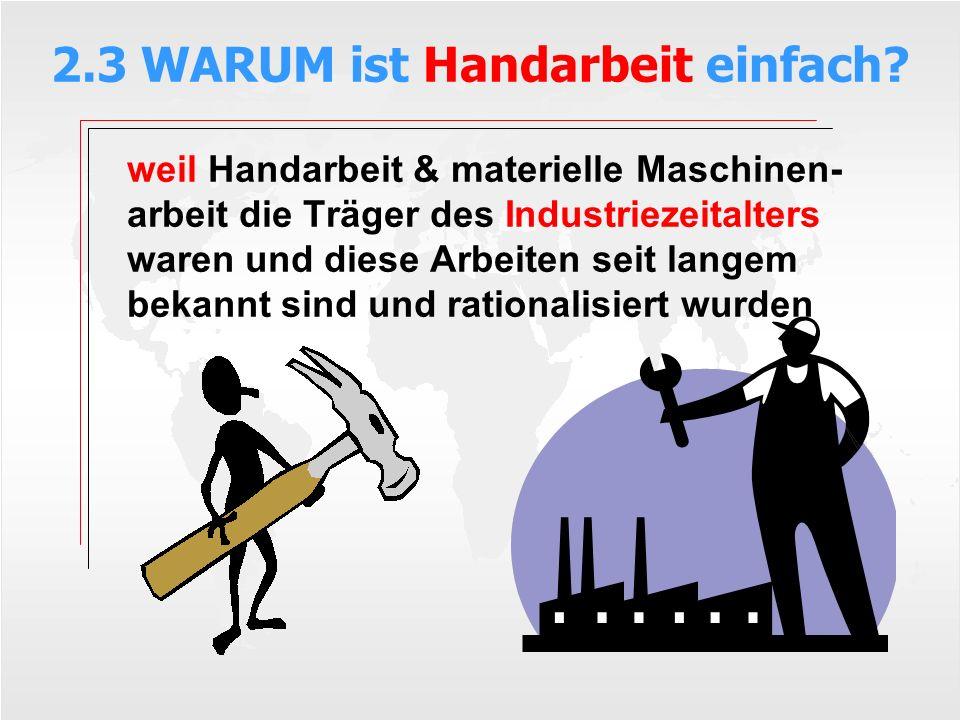 2.3 WARUM ist Handarbeit einfach