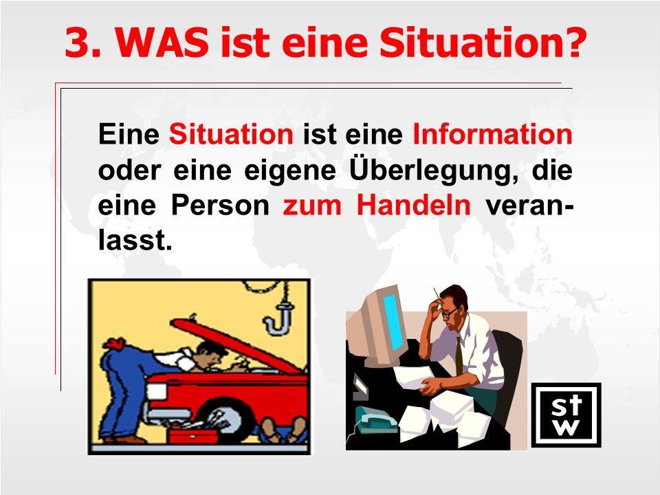 3. WAS ist eine Situation.