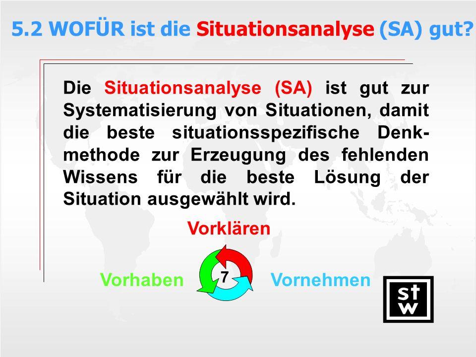 5.2 WOFÜR ist die Situationsanalyse (SA) gut