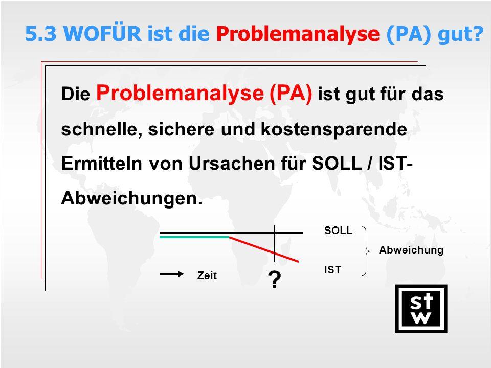 5.3 WOFÜR ist die Problemanalyse (PA) gut