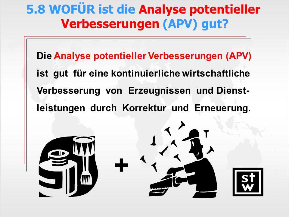 5.8 WOFÜR ist die Analyse potentieller Verbesserungen (APV) gut