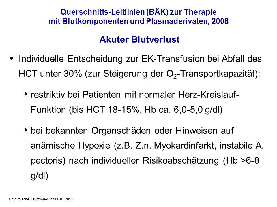 Querschnitts-Leitlinien (BÄK) zur Therapie