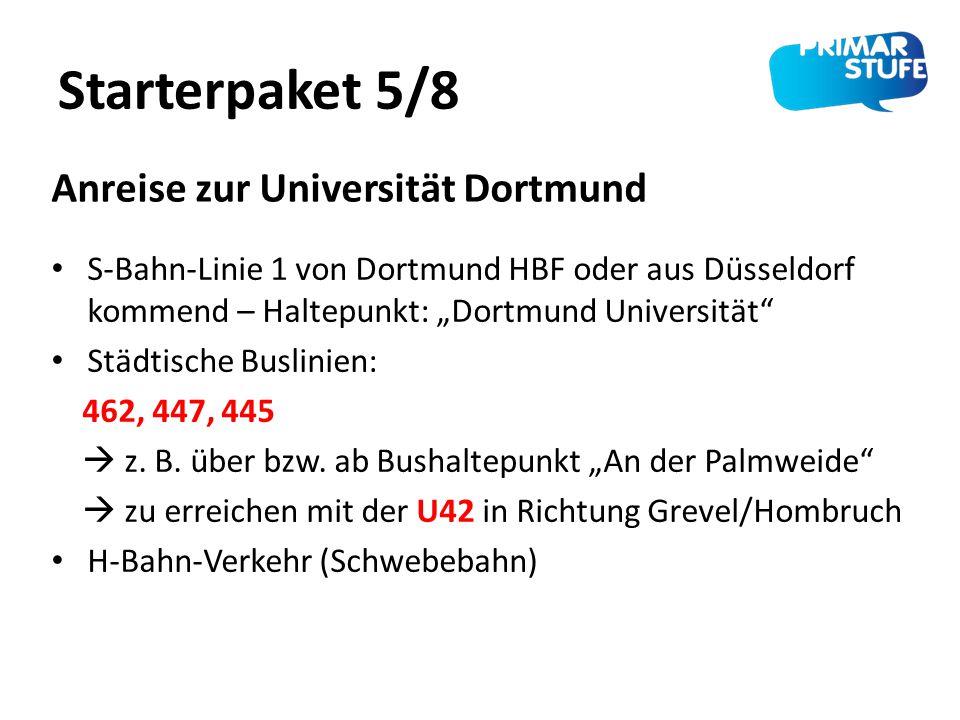 Starterpaket 5/8 Anreise zur Universität Dortmund