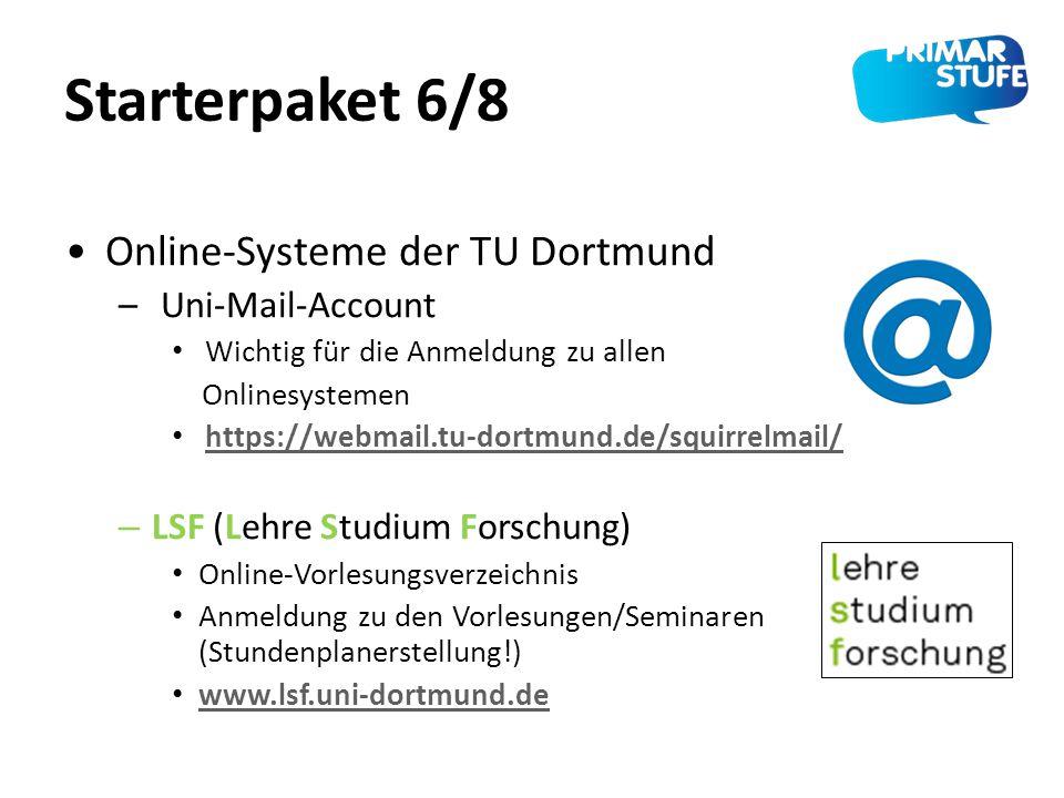 Starterpaket 6/8 Online-Systeme der TU Dortmund Uni-Mail-Account