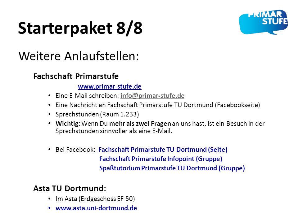 Starterpaket 8/8 Weitere Anlaufstellen: Fachschaft Primarstufe
