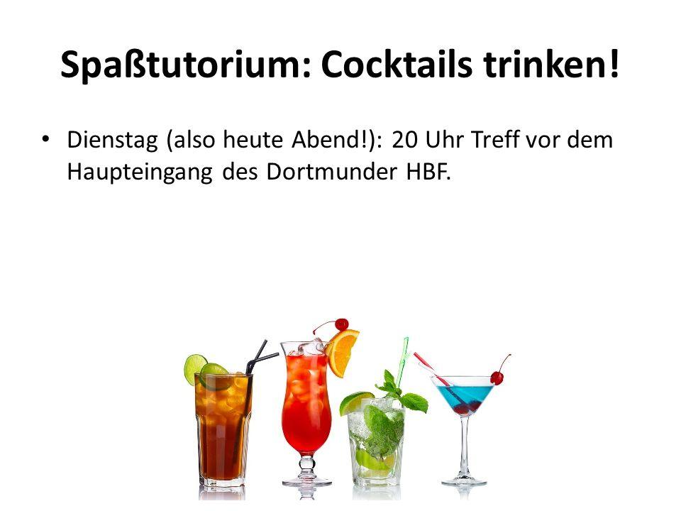 Spaßtutorium: Cocktails trinken!