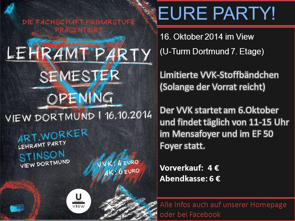 EURE PARTY! Limitierte VVK-Stoffbändchen (Solange der Vorrat reicht)