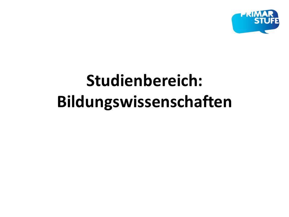 Studienbereich: Bildungswissenschaften