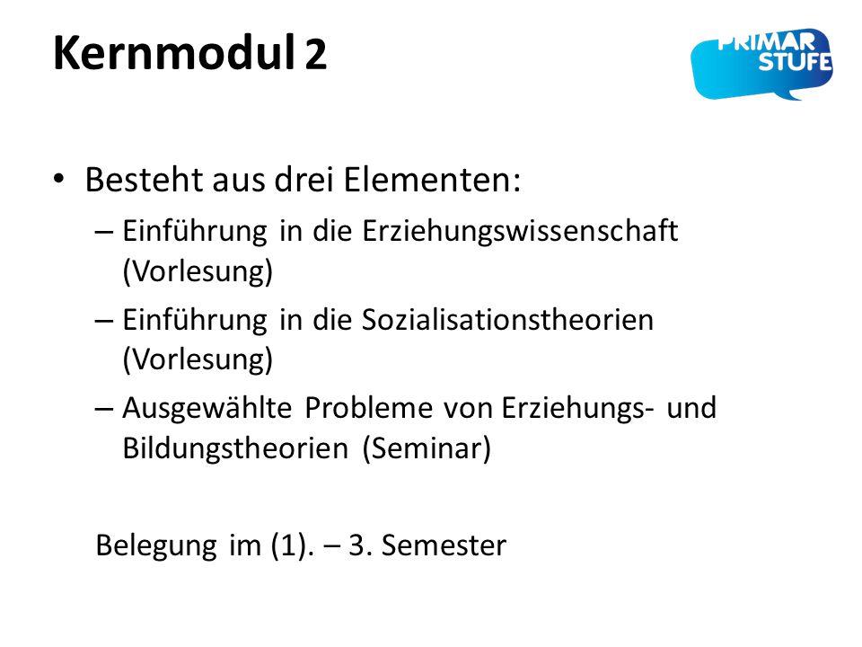 Kernmodul 2 Besteht aus drei Elementen: