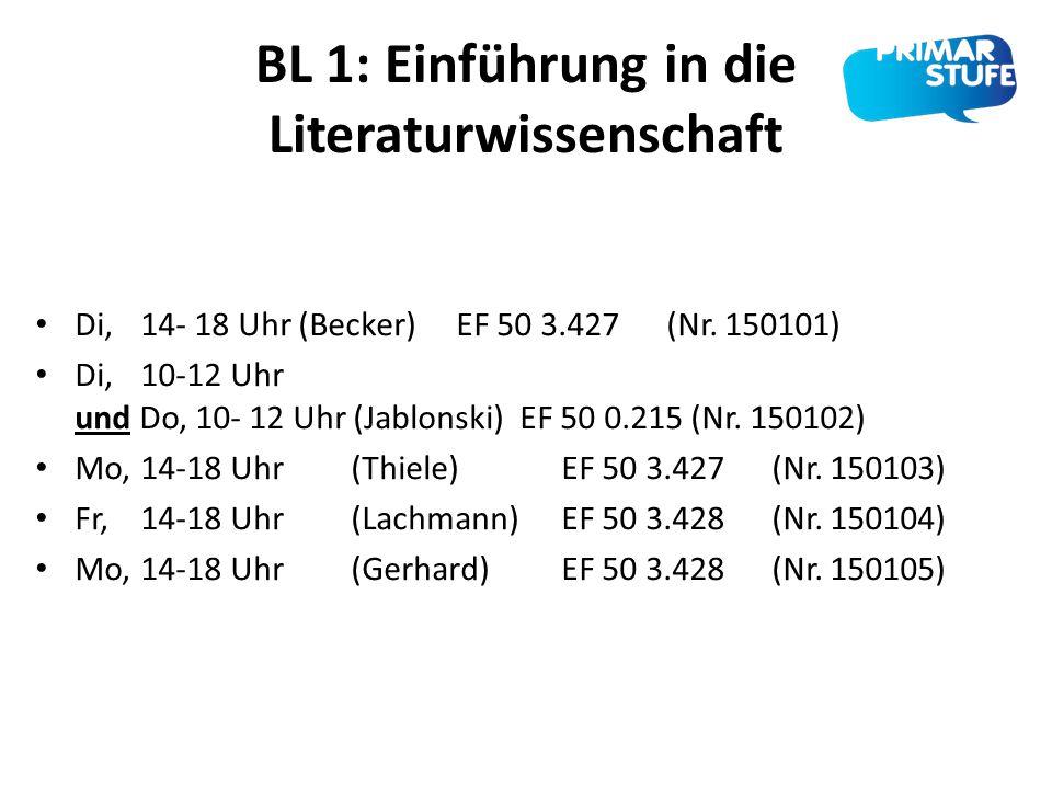 BL 1: Einführung in die Literaturwissenschaft