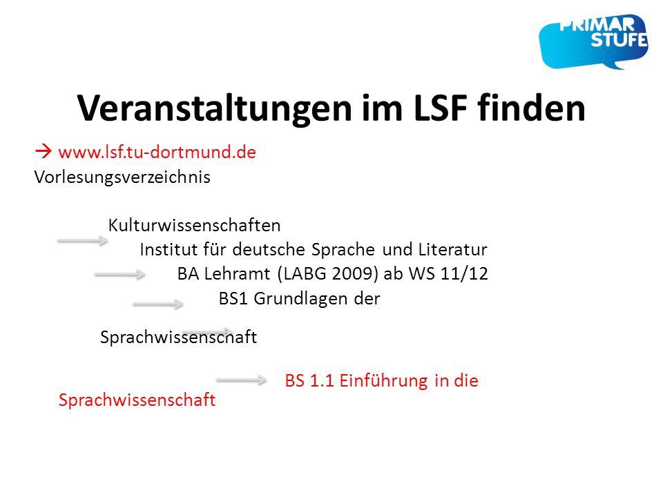 Veranstaltungen im LSF finden