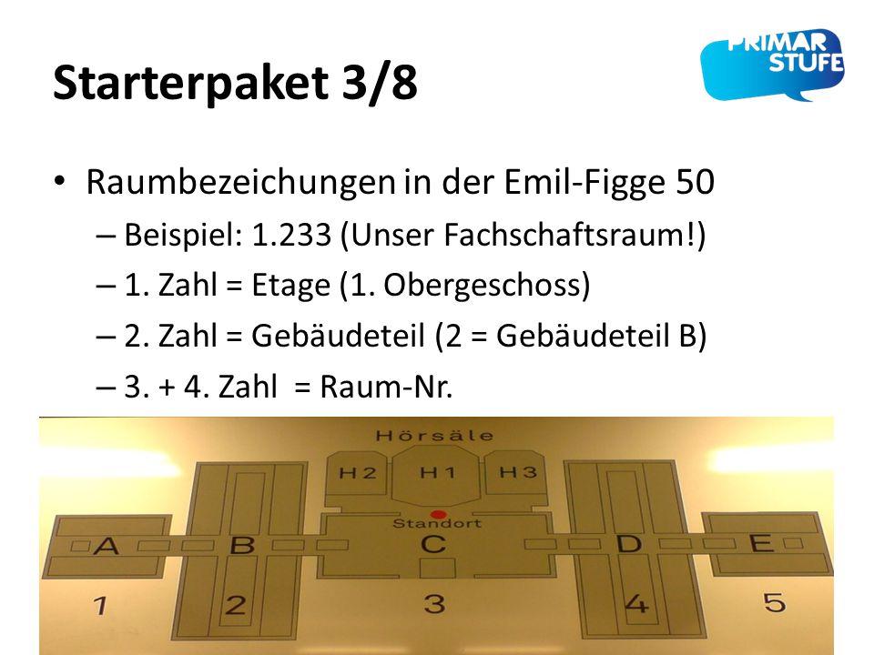 Starterpaket 3/8 Raumbezeichungen in der Emil-Figge 50