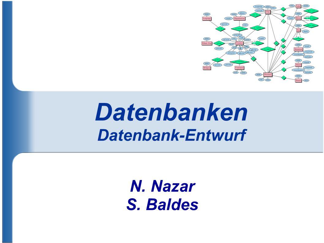 Datenbanken Datenbank-Entwurf