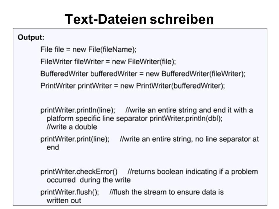 Text-Dateien schreiben