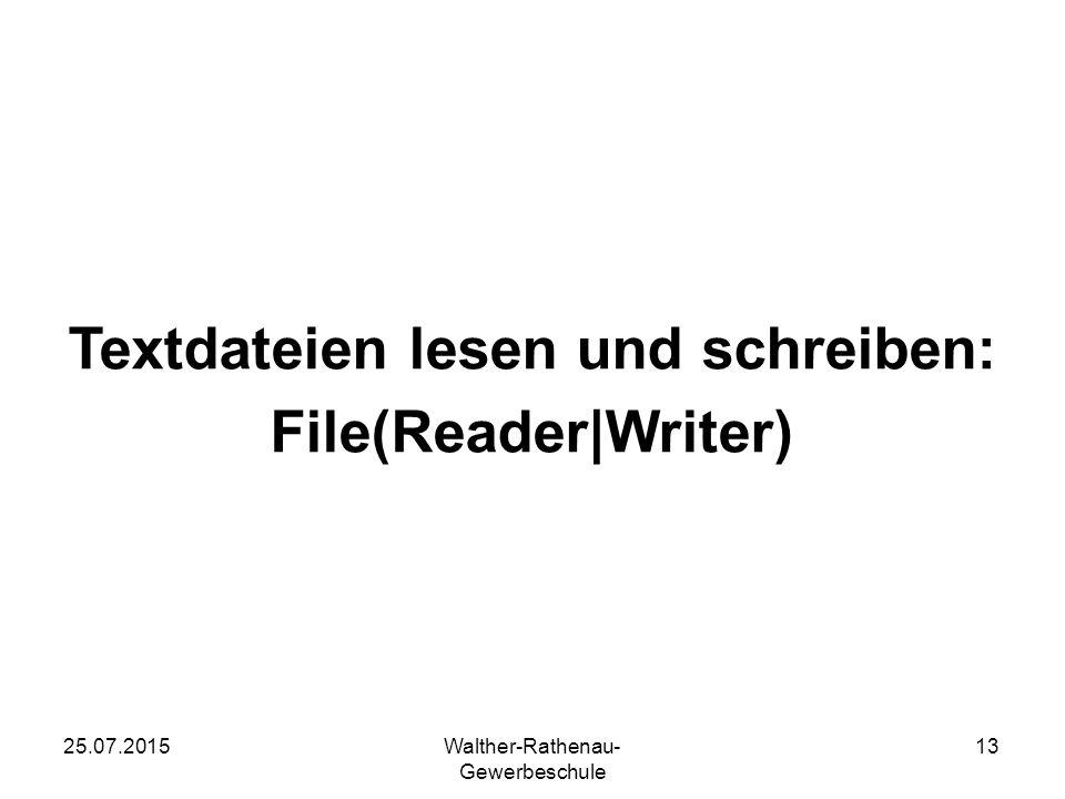 Textdateien lesen und schreiben: