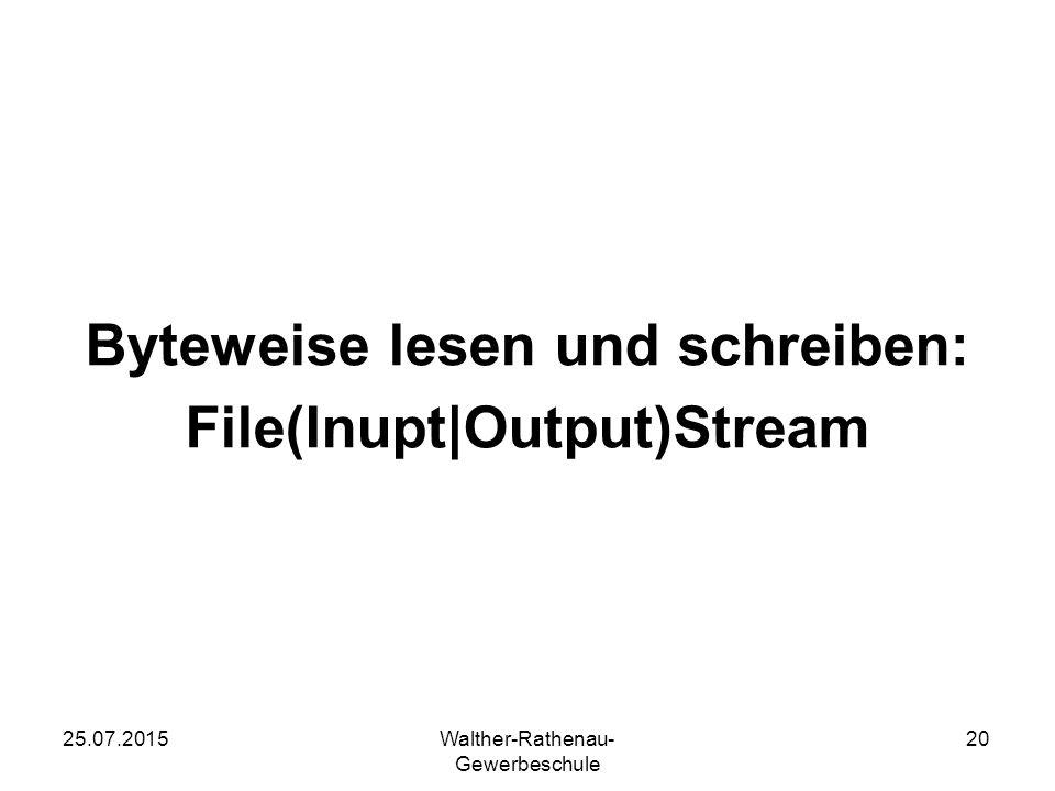 Byteweise lesen und schreiben: File(Inupt|Output)Stream