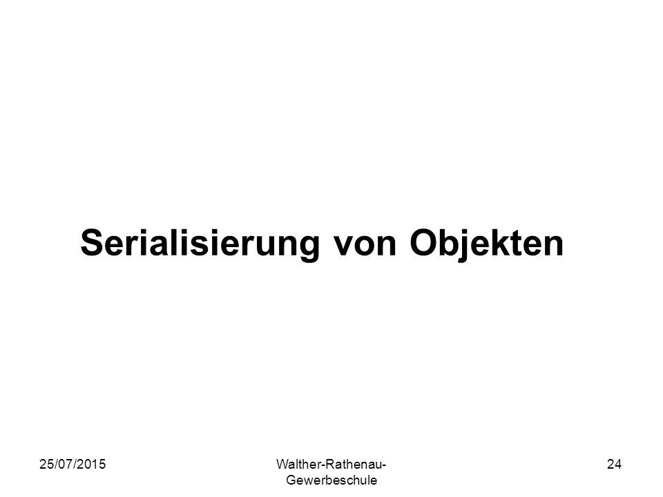 Serialisierung von Objekten