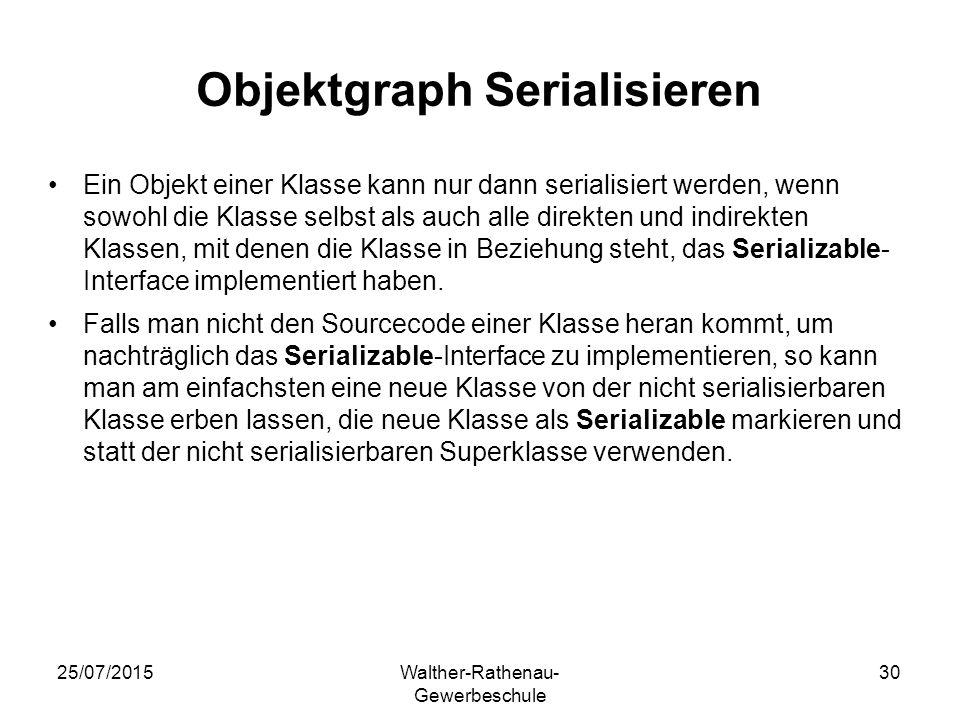 Objektgraph Serialisieren