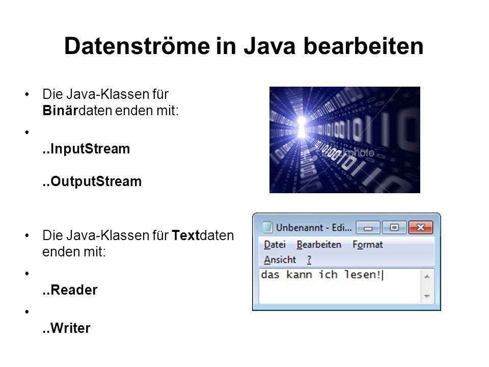 Datenströme in Java bearbeiten