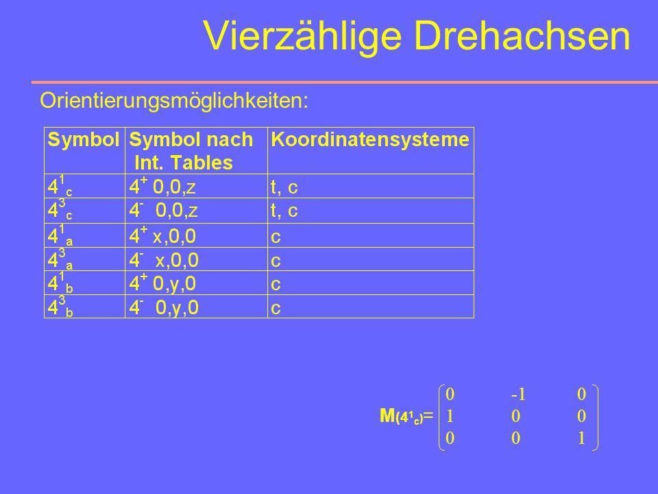 Vierzählige Drehachsen