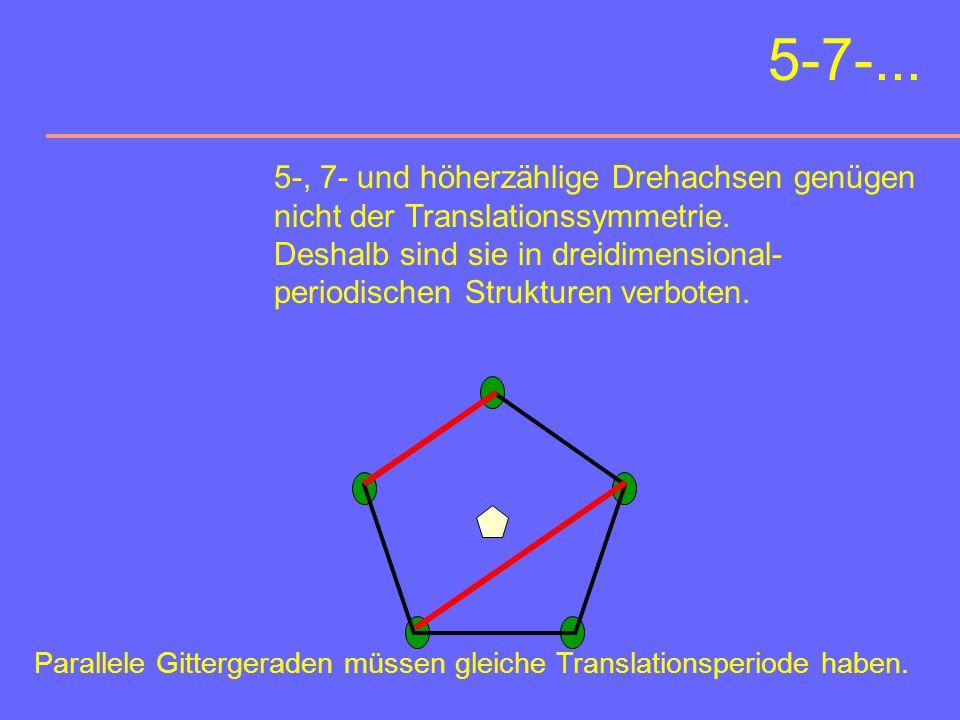 5-7-... 5-, 7- und höherzählige Drehachsen genügen
