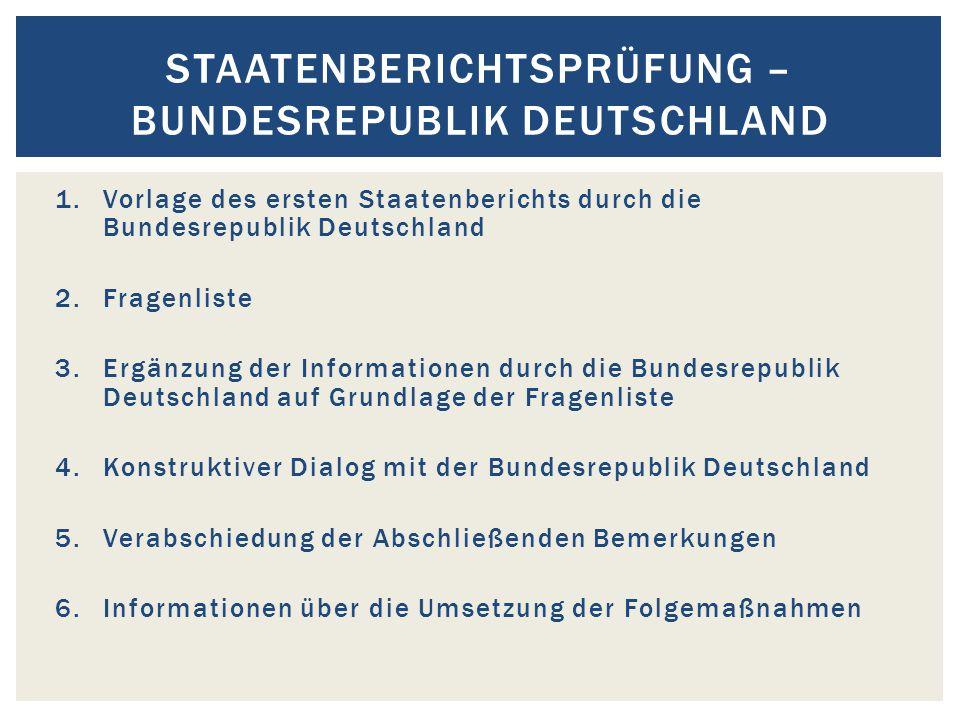 Staatenberichtsprüfung – Bundesrepublik Deutschland