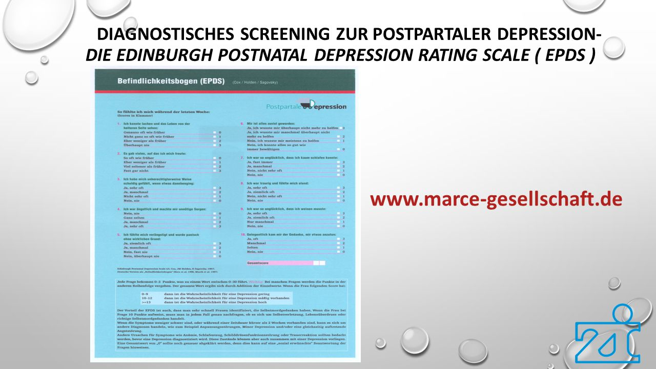 Diagnostisches Screening zur postpartaler Depression- Die Edinburgh Postnatal Depression Rating Scale ( EPDS )