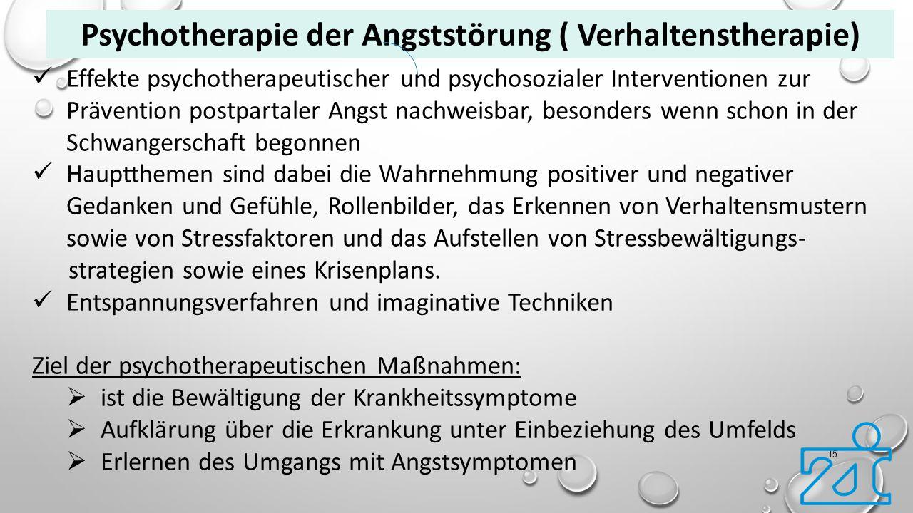 Psychotherapie der Angststörung ( Verhaltenstherapie)