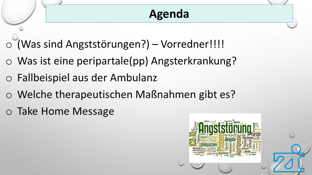 Agenda (Was sind Angststörungen ) – Vorredner!!!!