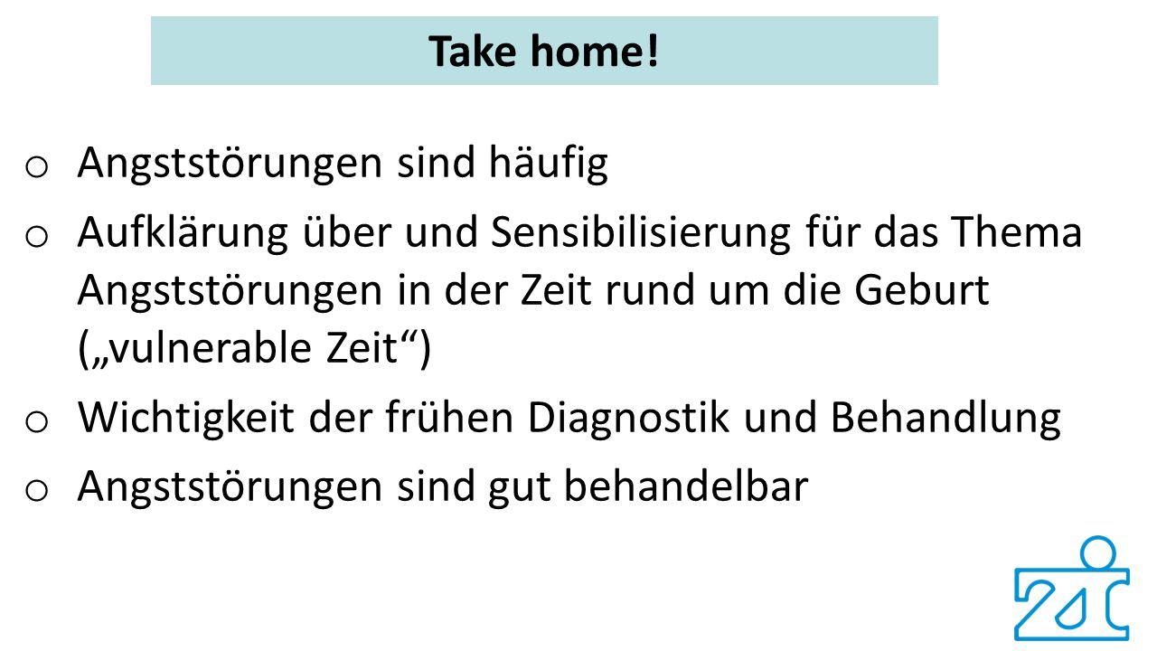 Take home! Angststörungen sind häufig.
