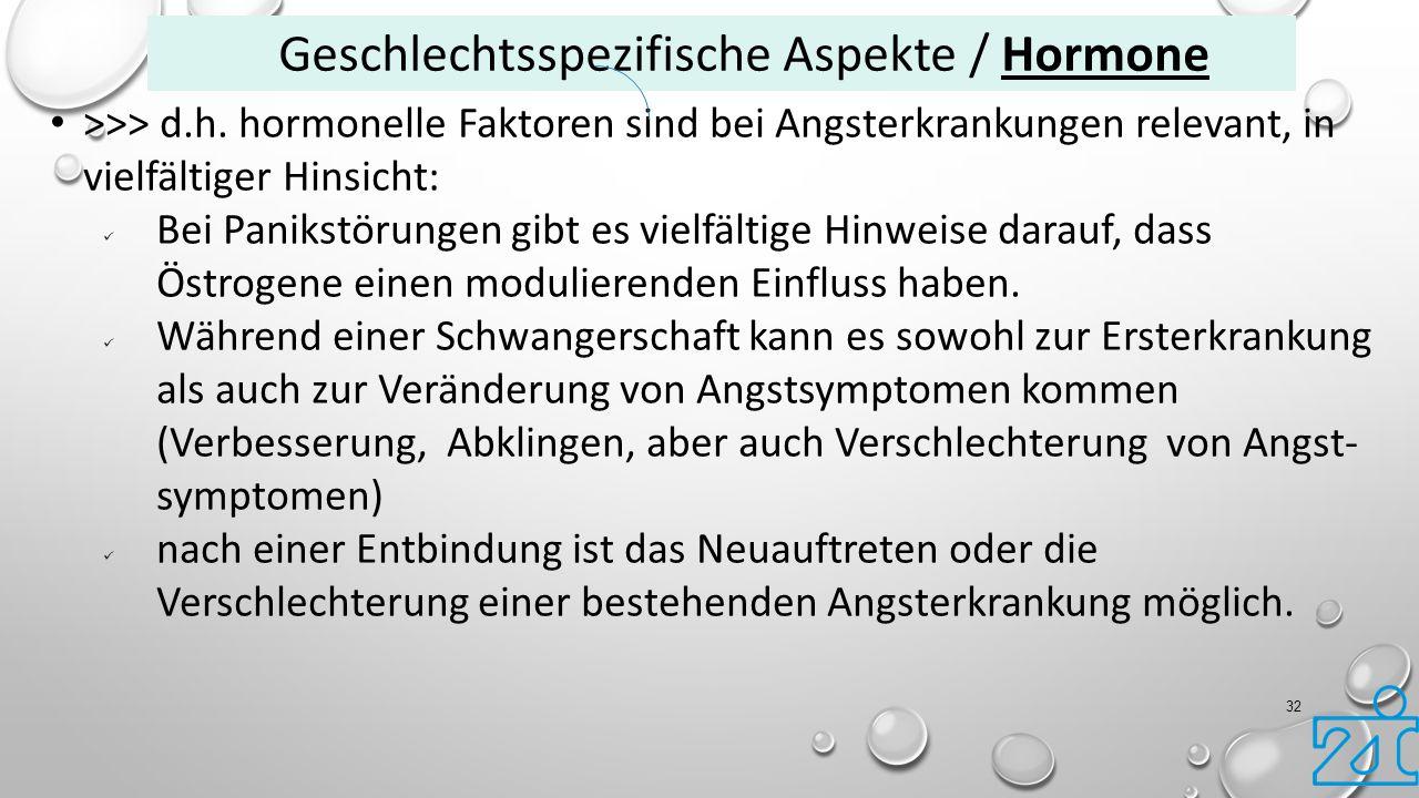 Geschlechtsspezifische Aspekte / Hormone