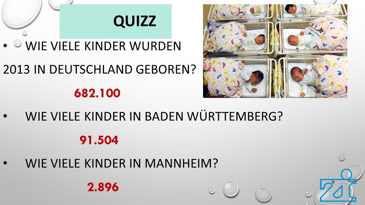 Quizz Wie viele Kinder wurden 2013 in Deutschland geboren 682.100