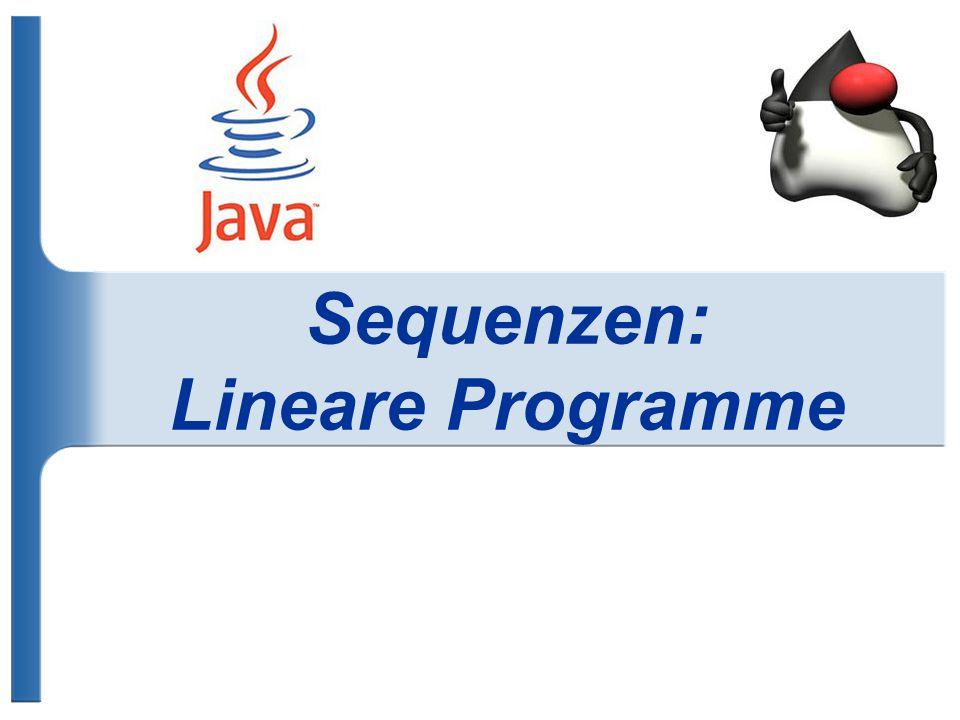Sequenzen: Lineare Programme