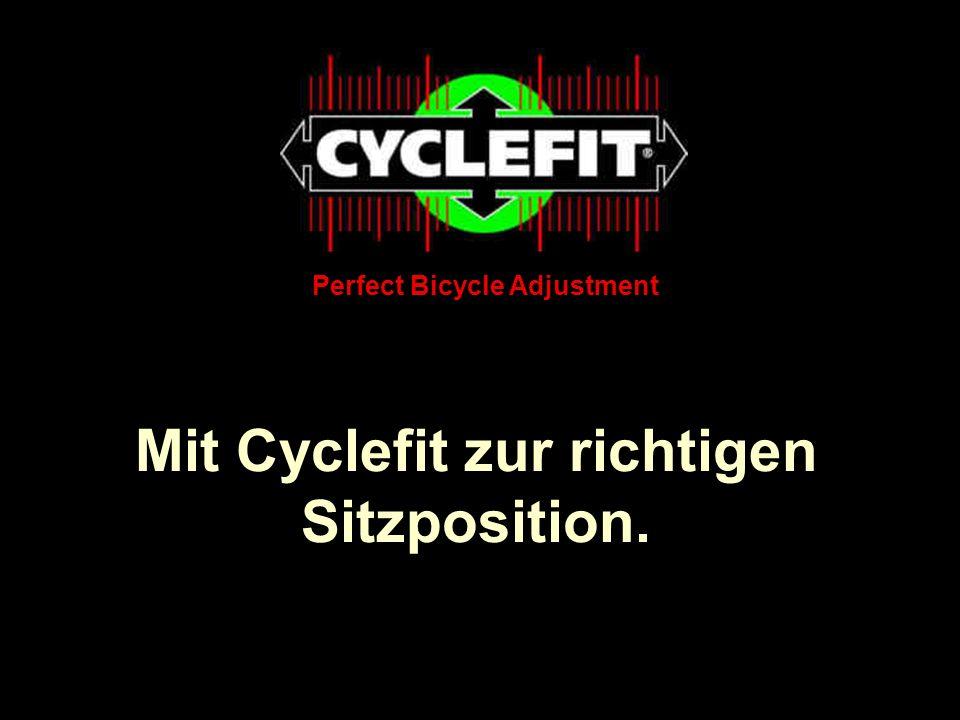 Mit Cyclefit zur richtigen Sitzposition.