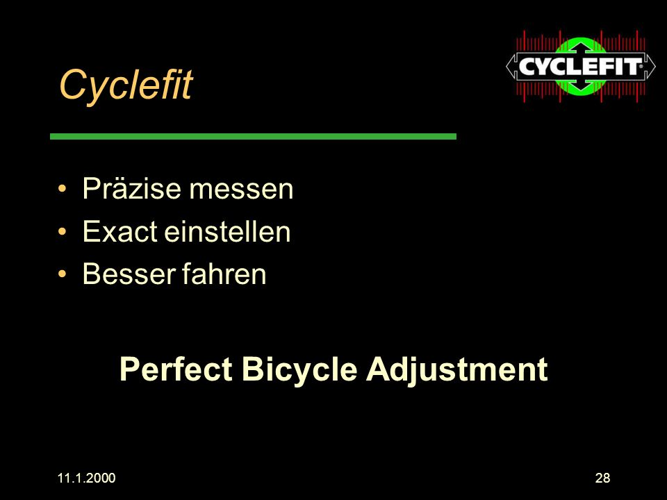 Perfect Bicycle Adjustment