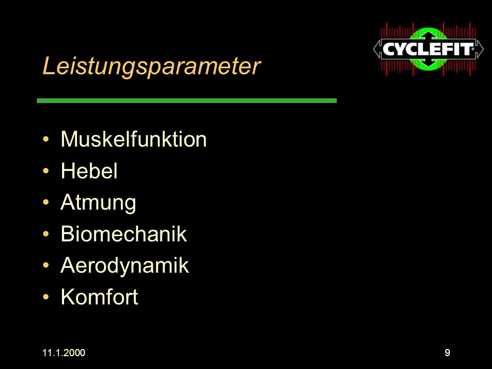 Leistungsparameter Muskelfunktion Hebel Atmung Biomechanik Aerodynamik