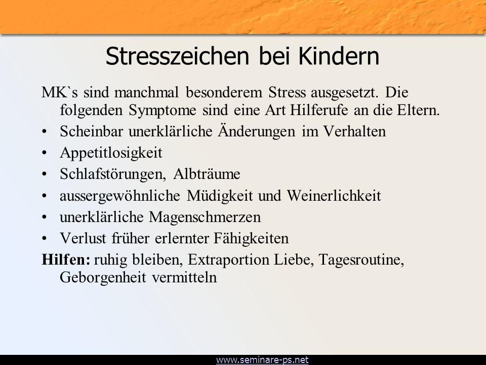 Stresszeichen bei Kindern