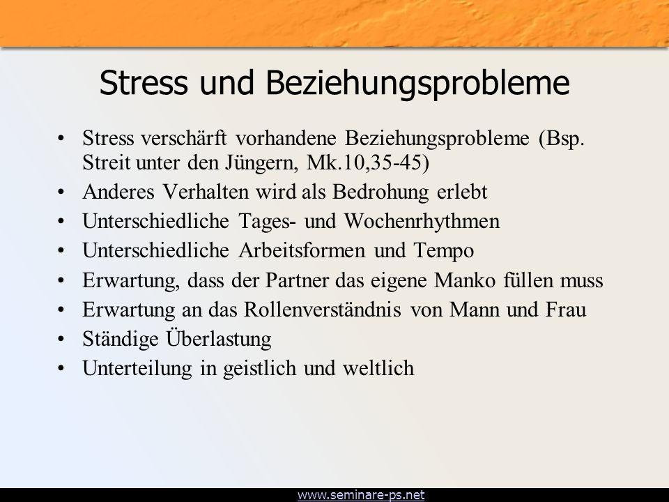 Stress und Beziehungsprobleme