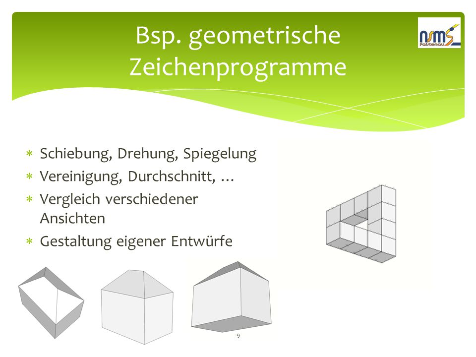 Bsp. geometrische Zeichenprogramme