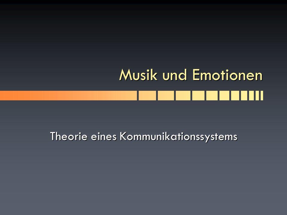 Theorie eines Kommunikationssystems