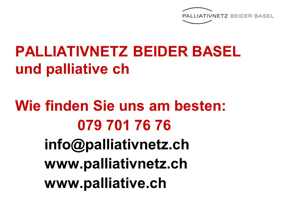 PALLIATIVNETZ BEIDER BASEL und palliative ch
