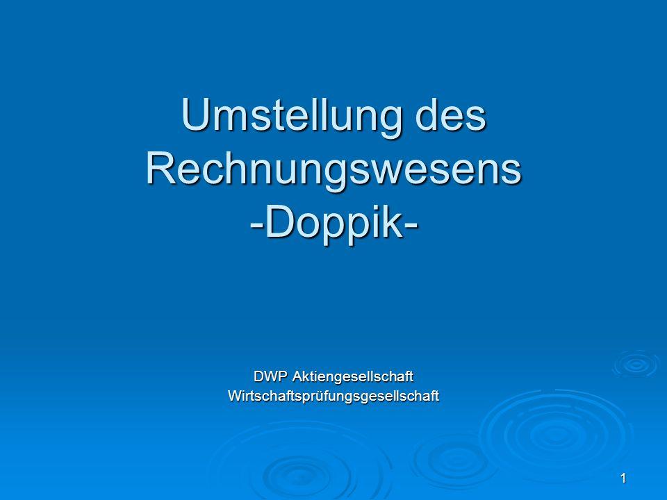 Umstellung des Rechnungswesens -Doppik-