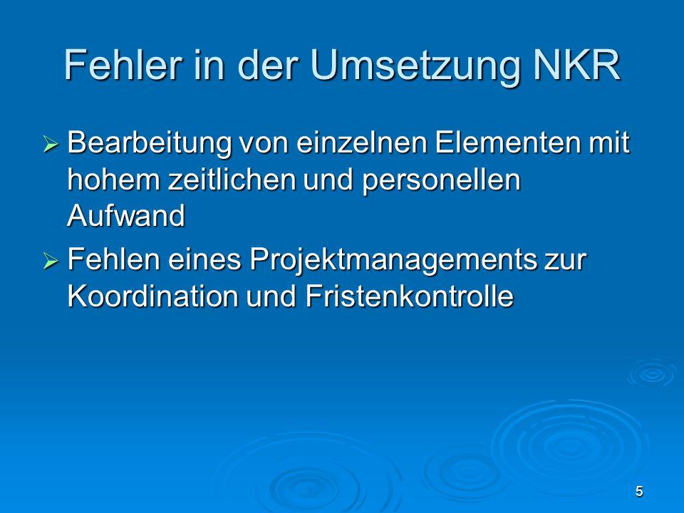 Fehler in der Umsetzung NKR